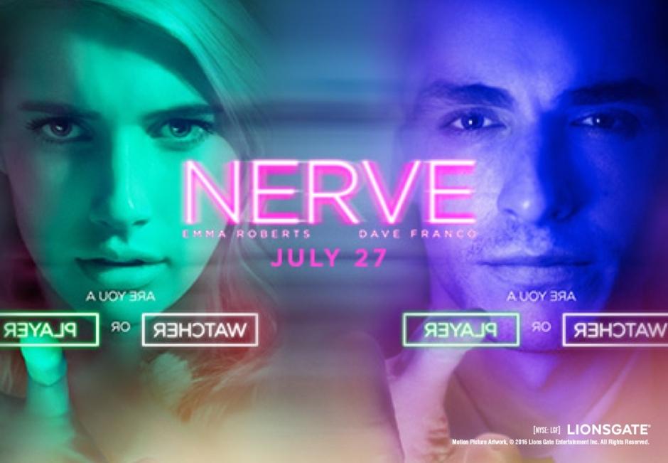 Poster du film Nerve (2016). Critique de film par Laqvs