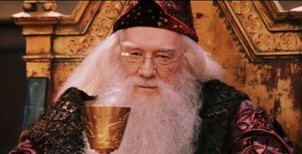 Albus Dumbledore donnant des conseils de vie.