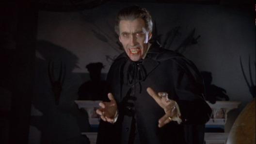 Christopher Lee en Dracula.