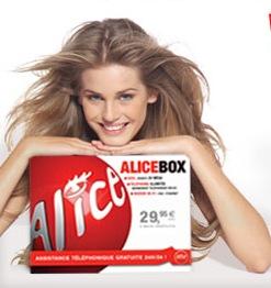 Une image tirée d'une pub Alicebox