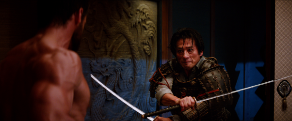 Hiroyuki Sanada, l'acteur jouant l'ex-mari dans Ring, ici affrontant Hugh Jackman dans Wolverine