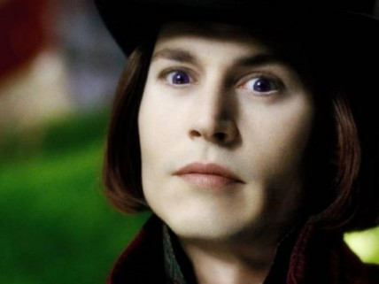 Johnny Depp dans le rôle de Willy Wonka, Charlie et la Chocolaterie (2005)