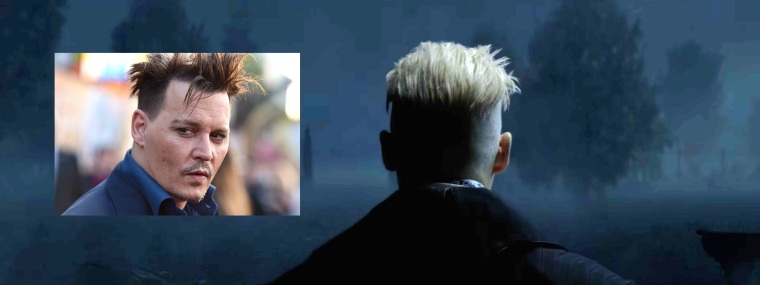 Johnny Depp joue Gellert Grindelwald dans les Animaux Fantastiques (David Yates, 2016)