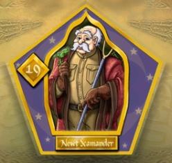 Carte de sorcier Norbert Dragonneau, issue d'un jeu Harry Potter
