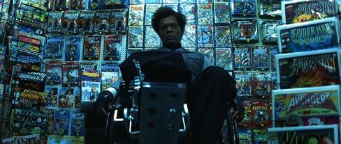 Samuel L Jackon jouant Elijah Price dans Incassable