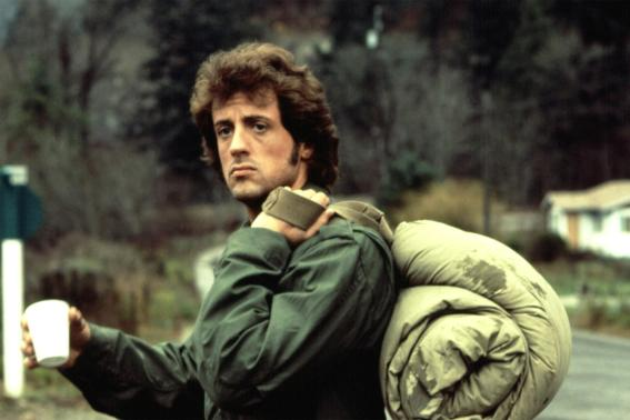 Sylvester Stallone dans le premier film Rambo (First Blood)