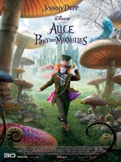 L'affiche d'Alice au Pays des Merveilles de Tim Burton