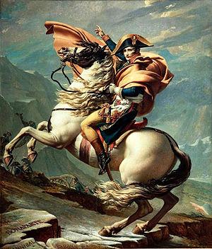 Bonaparte franchissant le Grand-Saint-Bernard par David