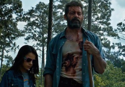 Logan et Laura enterrant Charles Xavier