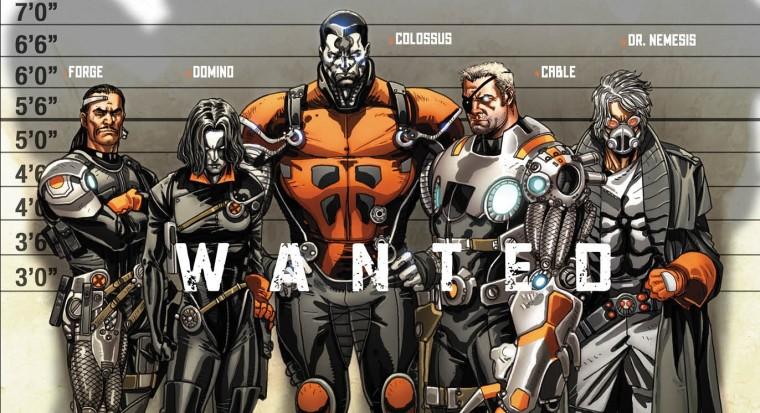 Dessin extrait de la couverture du comic Cable and the X-Force #1 Wanted