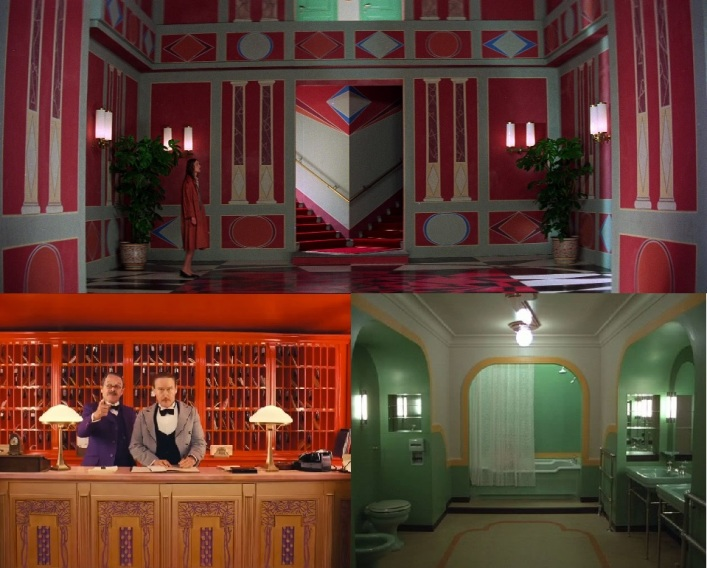Un plan de Suspiria comparé à un plan de Grand Budapest Hotel de Wes Anderson et à un plan de Shining de Stanley Kubrick
