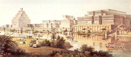 Le palais de Nimroud à Ninive par A.H. Layard
