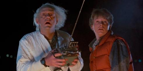 Doc et Marty, personnages principaux de Retour vers le Futur